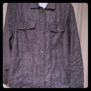 JNY linen long sleeve jacket